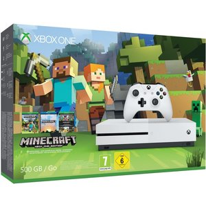 Microsoft Xbox One S Robot White 500GB Bundle inkl. Minecraft: Xbox One Edition