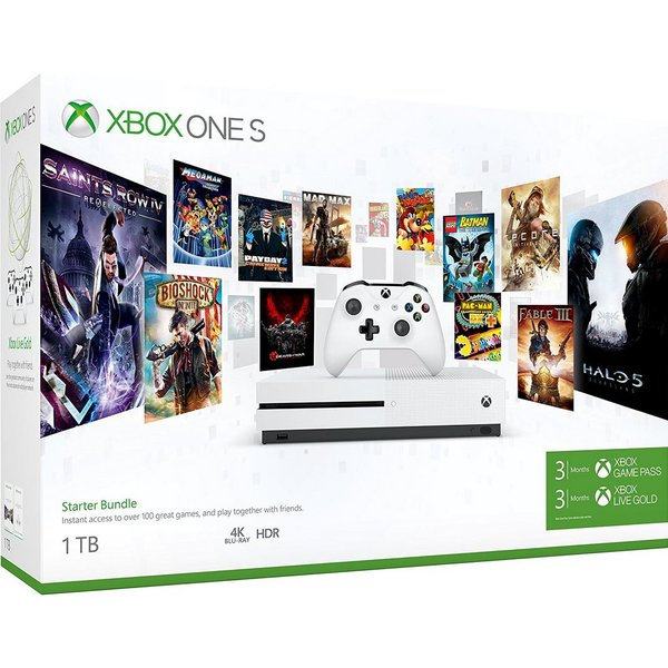 Microsoft Xbox One S Starter Bundle Robot White 1TB Bundle inkl. 3 Monate Game Pass