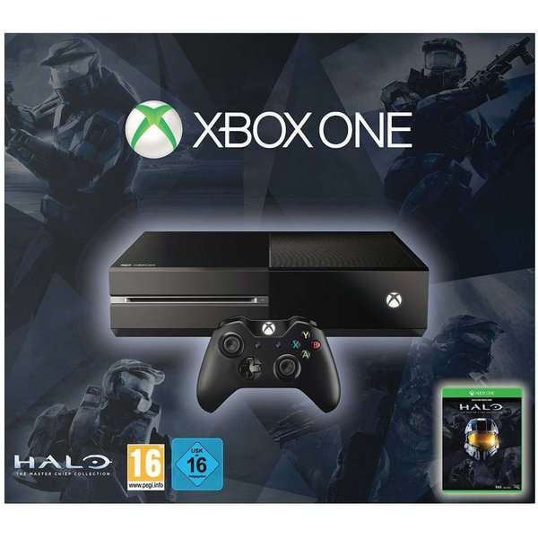 Microsoft Xbox One Schwarz 500GB Bundle inkl. Halo: The Master Chief Collection