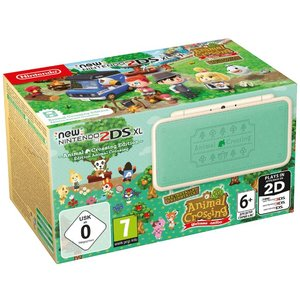 New Nintendo 2DS XL Animal Crossing Edition Weiß-Türkis 256MB & 4GB Speicherkarte Bundle inkl. Animal Crossing: New Leaf - Welcome amiibo
