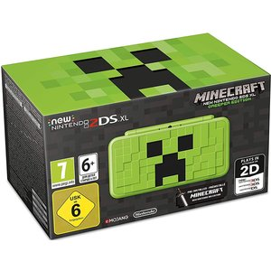 New Nintendo 2DS XL Minecraft Creeper Edition Grün 256MB & 4GB Speicherkarte