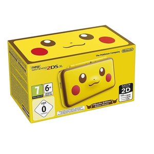 New Nintendo 2DS XL Pikachu Edition Gelb 256MB & 4GB Speicherkarte