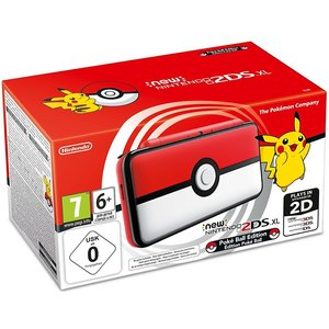 New Nintendo 2DS XL Pokéball Edition Weiß Rot 256MB & 4GB Speicherkarte