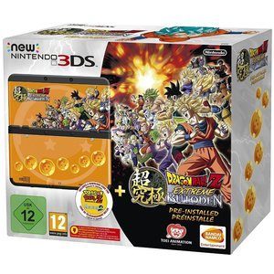 New Nintendo 3DS Schwarz 256MB & 4GB Speicherkarte Bundle inkl. Dragon Ball Z: Extreme Butoden