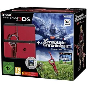 New Nintendo 3DS Schwarz 256MB & 4GB Speicherkarte Bundle inkl. Xenoblade Chronicles 3D