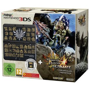 New Nintendo 3DS schwarz + Monster Hunter 4 Ultimate