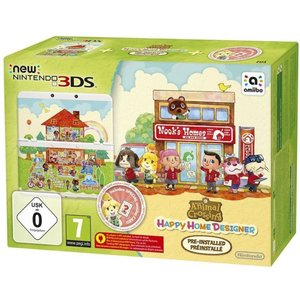 New Nintendo 3DS Weiß 256MB & 4GB Speicherkarte Bundle inkl. Animal Crossing: Happy Home Designer