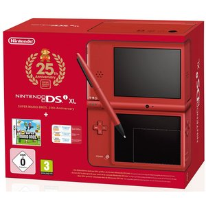 Nintendo DSi XL Limitierte Jubiläums-Edition Rot 256MB Bundle inkl. New Mario Bros.