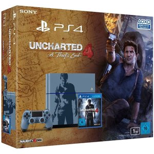 Sony PlayStation 4 (neues Modell) Blau 1TB Bundle inkl. Uncharted 4: A Thief's End