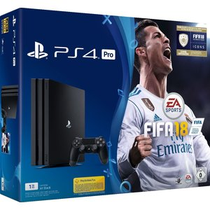 Sony PlayStation 4 Pro Jet Black 1TB Bundle inkl. Fifa 18