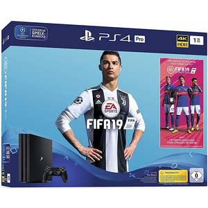 Sony PlayStation 4 Pro Jet Black 1TB Bundle inkl. FIFA 19
