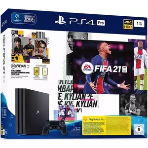 Sony PlayStation 4 Pro Jet Black 1TB Bundle inkl. FIFA 21
