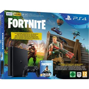 Sony PlayStation 4 Pro Jet Black 1TB Bundle inkl. Fortnite Royal Bomber + 500 V-Bucks