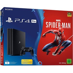 Sony PlayStation 4 Pro Jet Black 1TB Bundle inkl. Marvel's Spider-Man