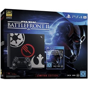 Sony PlayStation 4 Pro Limited Edition Star Wars Battlefront II Elite Trooper Deluxe Edition Schwarz 1TB Bundle inkl. Star Wars Battlefront II
