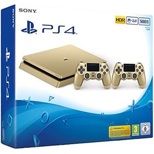 Sony PlayStation 4 Slim Gold 500GB inkl. 2. Controller