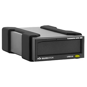 Tandberg RDX External Drive kit with 4TB, Black, USB3+ (Includes Windows Backup and Apple Time Machine Support)