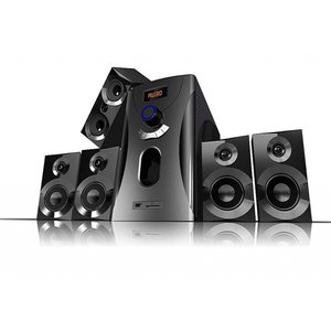 Auvisio Surround-Sound-System 5.1 Home-Theater, 160 Watt, MP3, Radio, schwarz, Lautsprecher Subwoofer Soundsystem Heimkinoanlage