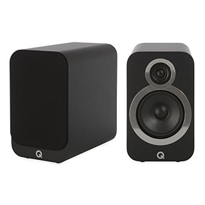 Q-Acoustics Q 3020i Kompaktlautsprecher Carbon-Black Regallautsprecher - 25 Watt