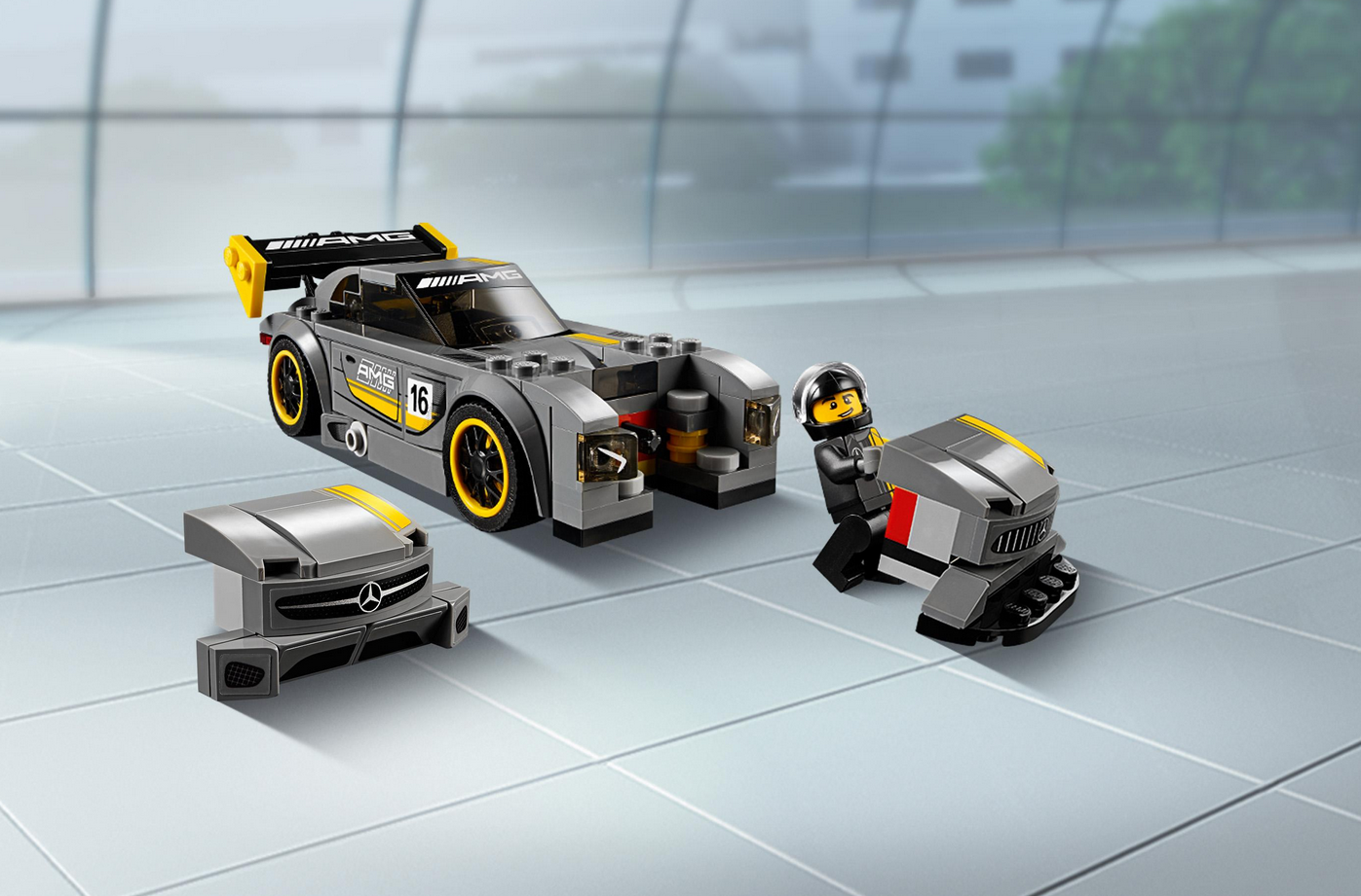 lego speed champions mercedes amg gt 75877 tests. Black Bedroom Furniture Sets. Home Design Ideas