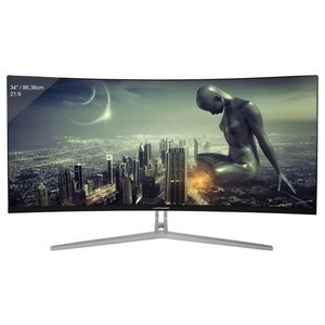 LC-Power Gaming LC-M34-UWQHD-100-C - 34 Zoll, UWQHD (3440 x 1440), VA-Panel (Samsung), 100Hz, 4ms, 300cd/m²