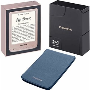 PocketBook e-Book Reader 'Touch Lux 4' Limited Edition (8 GB Speicher, 15,24 cm (6 Zoll) E-Ink Carta Display, Wi-Fi) in Matt-Gold