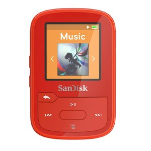 SanDisk Clip Sport Plus 16 GB MP3-Player rot