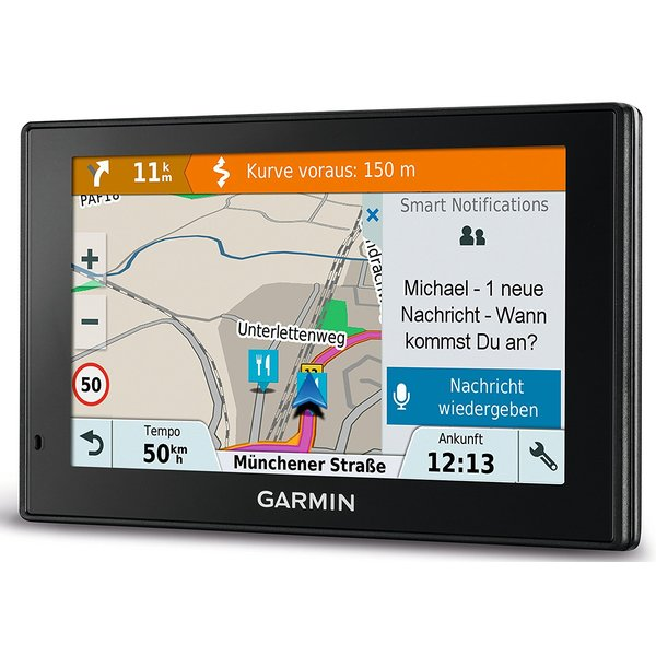 Garmin Drive Smart 51 LMT-S EU Navigationsgerät, Europa Karte, lebenslang Kartenupdates und Verkehrsinfos, Smart Notifications, 5 Zoll (12,7 cm) Touchdisplay