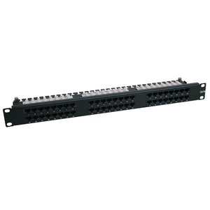 Tripp Lite N252-048-1U - Cat6 1U Patch Panel 568B - 110 Punchdown to RJ45 Female - 48 Port