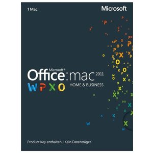 Microsoft Office 2011 Home and Business, PKC (Mac)