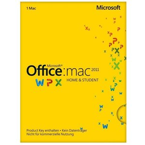 Microsoft Office 2011 Home & Student, PKC (Mac)