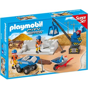 PLAYMOBIL - SuperSet Baustelle 6144