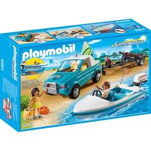 PLAYMOBIL - Surfer-Pickup mit Speedboat 6864
