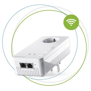 Devolo Magic 2 WiFi Next Powerline Adapter (2400Mbps, 2X Gigabit-LAN-Anschlüsse, G.hn, WLAN)