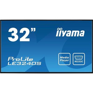 iiyama ProLite LE3240S-B1 80cm (31,5'') Info-Display IPS Panel Full-HD USB Mediaplayer (VGA, DVI, HDMI, 8ms, 12Std-7) Schwarz