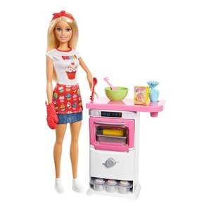 Mattel - Barbie - Cooking & Baking Bäckerin Puppe & Spielset