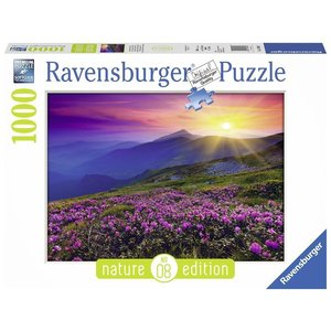 Bergwiese im Morgenrot, Nature Edition. Puzzle 1000 Teile