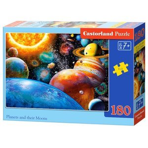 Castorland B-018345 Planets and Their Moons Puzzle, 180 Teile, bunt