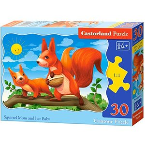 Castorland B-03693-1 Squirrel Mom and her Baby, 30 Teil Puzzle, bunt