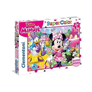 Clementoni - 20146 - Minnie Happy Helpers - Glitter Puzzle - 104 Teile