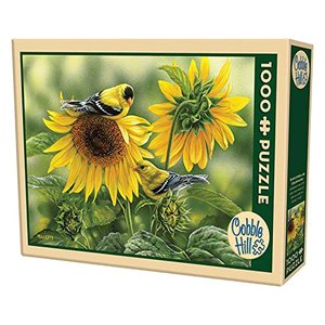 Cobble Hill - 51818 - Puzzles - Sunflowers And goldfin Puzzle