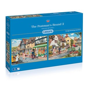 Gibson Games - Jigsaw - The Postman's Round 2 - 2x500 Pieces