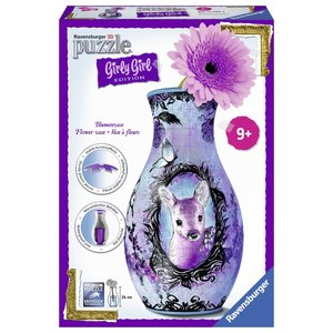 Ravensburger - 3D Puzzles - Girly Girl Edition - Blumenvase - Animal Trend, 216 Teile