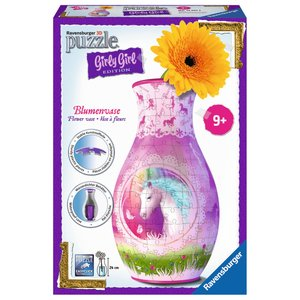 Ravensburger - 3D Puzzles - Girly Girl Edition - Blumenvase Ever After High, 216 Teile