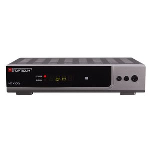 Opticum HD X300s HDTV-Satellitenreceiver (Full HD 1080p, HDMI, USB, S-PDIF CoXial, Scart) silber