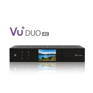 VU+ Duo 4K 1x DVB-S2X FBC Twin / 1x DVB-C FBC Tuner 4 TB HDD Linux Receiver UHD 2160p