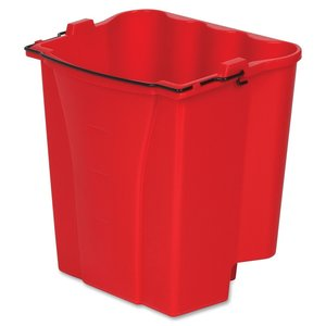 Rubbermaid Commercial 18qt Dirty Water Bucket for WaveBrake Wringer - Red