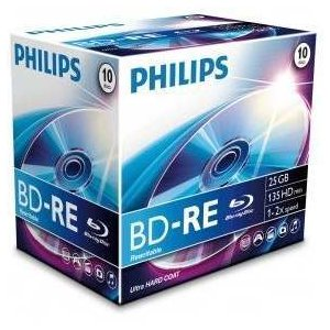 Philips BE2S2J10C-00 BD-RE Rohlinge 2X 25GB 10er Jewel Case