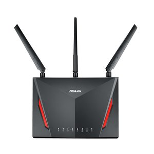 Asus RT-AC86U Home Office Router (Ai Mesh WLAN System, WiFi 5 AC2900, Gaming Engine, Gigabit LAN, App Steuerung, AiProtection, USB 3.0, VPN, PPTP, OpenVPN)
