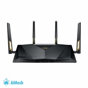 Asus RT-AX88U Gaming Router (Ai Mesh WLAN System, WiFi 6 AX6000, Gaming Engine, 8x Gigabit LAN Link Aggregation, 1.8 GHz QC CPU, AiProtection, USB 3.0) (Router bis zu 220 m²)